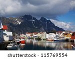 Colorful Fishing Harbor On...