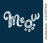 Cat Meow Logo With Paw Print...