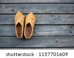 birch bark shoes  or swede... | Shutterstock . vector #1157701609
