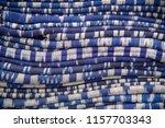 thai silk fabric folded for... | Shutterstock . vector #1157703343