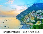 view of positano village along... | Shutterstock . vector #1157705416