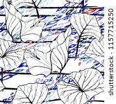tropical  stripe  animal motif. ... | Shutterstock .eps vector #1157715250