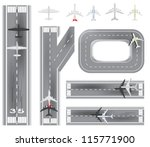 airport and airplane set | Shutterstock .eps vector #115771900