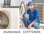 a professional electrician man... | Shutterstock . vector #1157723656
