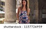 pretty millennial woman in... | Shutterstock . vector #1157726959