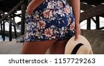 rear close up of woman in... | Shutterstock . vector #1157729263