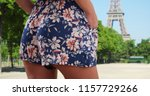 tight rear view of woman in... | Shutterstock . vector #1157729266
