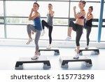 for women raising their leg... | Shutterstock . vector #115773298