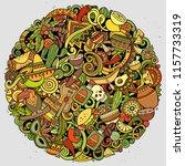 cartoon vector doodles latin... | Shutterstock .eps vector #1157733319