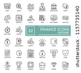 simple finance icons set....