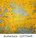 Cracked Surface  Yellow Texture