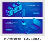 cloud data copy and online... | Shutterstock .eps vector #1157738650