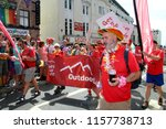 Small photo of Brighton,East Sussex/UK 08-04-18 Representatives of Outdoor Lads taking part in Brighton's wonderful Pride parade 2018