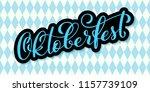 oktoberfest celebration... | Shutterstock .eps vector #1157739109