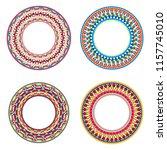 african maasai beads necklace... | Shutterstock .eps vector #1157745010