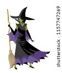 evil green witch | Shutterstock .eps vector #1157747269