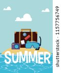 summer and vacations cartoons | Shutterstock .eps vector #1157756749