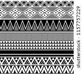 ethnic boho tribal indian... | Shutterstock .eps vector #1157757229