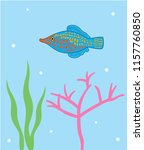 reef fish vector. coral fish... | Shutterstock .eps vector #1157760850