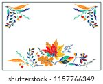 set of autumn leaves in cartoon ... | Shutterstock .eps vector #1157766349
