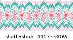 ikat geometric folklore... | Shutterstock .eps vector #1157773096