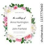 wedding floral  invitation ... | Shutterstock .eps vector #1157776060