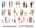 a happy family. set. design of  ... | Shutterstock .eps vector #1157782450