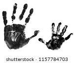 mother and child handprints... | Shutterstock .eps vector #1157784703