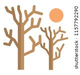 a leafless naked tree with sun ... | Shutterstock .eps vector #1157792290
