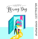 happy literacy day illustration ... | Shutterstock .eps vector #1157793739