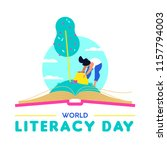 world literacy day design ... | Shutterstock .eps vector #1157794003