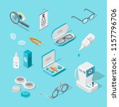 eye care and health  vector 3d... | Shutterstock .eps vector #1157796706