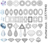 illustration cut precious gem...