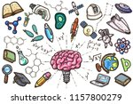scientific conceptual set of... | Shutterstock .eps vector #1157800279