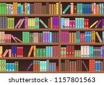 library book shelf literature... | Shutterstock .eps vector #1157801563