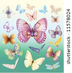 a set of butterflies | Shutterstock .eps vector #11578024