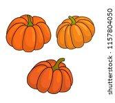set of pumpkins. vector... | Shutterstock .eps vector #1157804050