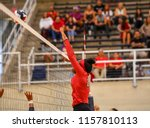 girl volleyball players... | Shutterstock . vector #1157810113