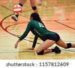 girl volleyball player bumping... | Shutterstock . vector #1157812609