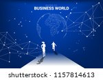 business competition world.... | Shutterstock .eps vector #1157814613