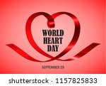 world heart day red concept... | Shutterstock .eps vector #1157825833