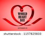 world heart day red concept... | Shutterstock .eps vector #1157825833