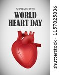 world heart one day concept... | Shutterstock .eps vector #1157825836