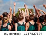 boys on cross country team in a ...   Shutterstock . vector #1157827879