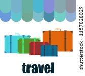 suitcase travel vektor... | Shutterstock .eps vector #1157828029