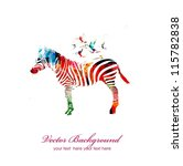 colorful vector zebra with... | Shutterstock .eps vector #115782838