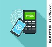 smartphone payment nfc device...   Shutterstock .eps vector #1157829889