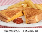 Closeup Grilled Cheese With...