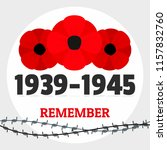 second world war memory... | Shutterstock .eps vector #1157832760