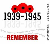 ww2 memory background. flat... | Shutterstock .eps vector #1157832766